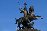 Russia, Moscow, Saint George´s statue