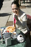 Asian Woman Having Lunch, MR_0625
