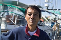 Japanese Sailor and His Sailboat Victoria British Columbia Canada