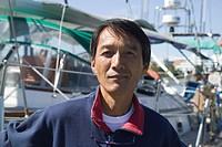 Japanese Sailor and His Sailboat Victoria British Columbia Canada