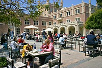 Students at campus food court University of California Los Angeles