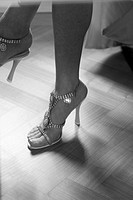 Close up of woman´s shoes