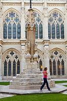 Cathedral cloister, Burgos, Castilla-Leon, Spain