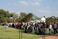 People queing at a voting station in Pretoia, National and Provincal Elections, South Africa