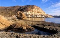 `Cala de Enmedio´  Beach near Agua amarga  Cabo de Gata-Nijar Natural Park  Biosphere Reserve, Almeria province, Andalucia, Spain