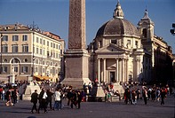 Italy, Lazio, Rome. Piazza del Popolo