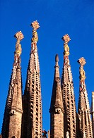 Spain, Catalonia, Barcelona, the Sagrada Familia