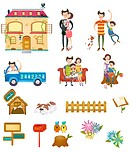 family icon set
