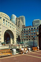 USA, Massachusetts, Boston, Rowes Warf