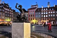 Poland,Warsaw, Rynek starego miasta, Old Town Market Square