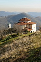 Italy, Lombardy, Monte di Nese,the church