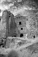 Italy, Basilicata, Craco Vecchio Ruins.