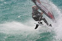 Windsurfing in Dahab, Egypt.