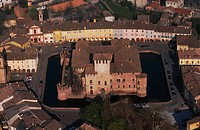 Emilia Romagna, Fontanellato, aerial view