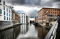 View of Regent&#8217;s Canal between Camden Town and Kings Cross, London, England, United kingdom, Europe