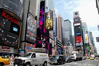 Seventh Avenue at Times Square. Theater District. Manhattan. New York, New York. USA.