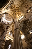 Interior of new cathedral, Salamanca, Castilla-Leon, Spain
