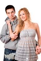 nice cheerful couple