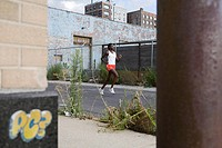 Woman running in brooklyn (thumbnail)