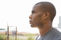 Profile of a man looking away