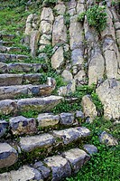 Stone staircase, Hostalric, Catalonia, Spain.