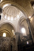 Interior detail of the Dome of the Cathedral of Salvador, Zamora, Castilla y Leon, Spain