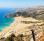 Tsampika beach from above Island of Rhodes Greece