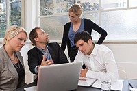 Business meeting with web designer