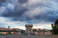 The Chain Bridge over the River Danube