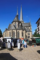 D-Wesel, Rhine, Lower Rhine, North Rhine-Westphalia, NRW, Willibrordi Cathedral, basilica, evangelic church, Late Gothic, Great Market, market place, ...