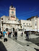 Croatia, Zadar, People´s Square, City Sentinel, Clock Tower, people,
