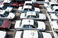 Line of taxis wait outside train station, Sendai, Japan