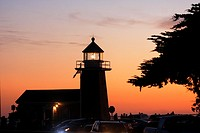 Lighthouse Sunset Seashore of California