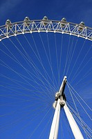 Great Britain, England, UK, United Kingdom, London, travel, tourism, London Eye, big wheel, landmark, cabins, gondolas, detail, draft, plan, circle, r...