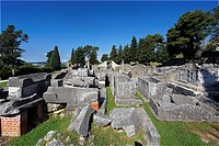 Croatia, Europe, Salona, ancient Illyrian, Delmati city, Emporion, ruins, Salona
