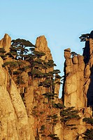 Jagged mountain pinnacles, Huangshan, Anhui, China