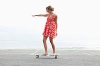 Female skateboarder