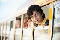 Children in school bus (thumbnail)