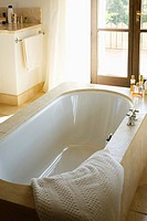 Bathtub in villa