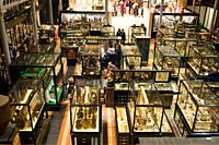 The interior of the Pitt Rivers Museum Oxford UK