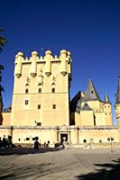 Tribute Tower of the Alcazar in Segovia  Segovia Spain
