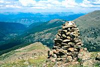 Cairn in the Holy Cross Wilderness Area, White River National Forest, Colorado, USA