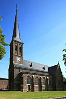 Saint Sebastianus Church in Frechen_Koenigsdorf, Cologne Bay, Ville, North Rhine_Westphalia, Germany, Europe