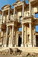 Ancient ruins of the Library of Celsus, Sel&#231;uk, Turkey, Asia