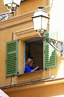 Woman in Window, Nice, France