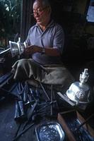 A silversmith Gangtok, Sikkim, India 2000