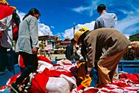 Jokhang Temple in Barkhor Square. Lhasa. Tibet. China.
