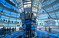 Europe, Germany, Berlin, the dome of the Reichstag building