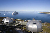 Hotel Arctic Igloo Accomodation and cruise ship MS Deutschland, Ilulissat Jakobshavn, Disko Bay, Kitaa, Greenland