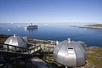 Hotel Arctic Igloo Accomodation and cruise ship MS Deutschland, Ilulissat Jakobshavn, Disko Bay, Kitaa, Greenland
